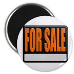 For Sale Sign Magnet
