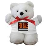 For Sale Sign Teddy Bear