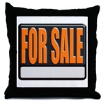 For Sale Sign Throw Pillow