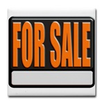 For Sale Sign Tile Coaster