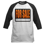For Sale Sign Baseball Jersey