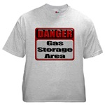 Gas Storage Area Ash Grey T-Shirt