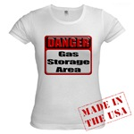 Gas Storage Area Jr. Baby Doll T-Shirt