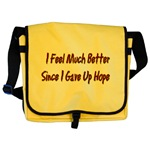 I Feel Much Better  Messenger Bag