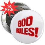"God Rules! 2.25"" Button (10 pack)"