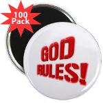 "God Rules! 2.25"" Magnet (100 pack)"