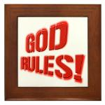 God Rules! Framed Tile