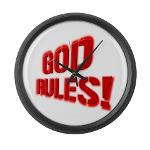 God Rules! Large Wall Clock