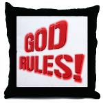 God Rules! Throw Pillow