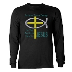 Jesus Therapy Long Sleeve Dark T-Shirt