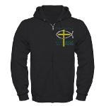 Jesus Therapy Zip Hoodie (dark)