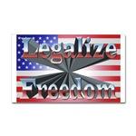 Legalize Freedom Rectangular Sticker