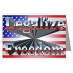 Legalize Freedom Package of 6 Greeting Cards