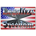 Legalize Freedom Mini Poster Print