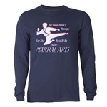 Martial Arts Therapy Long Sleeve Dark T-Shirt