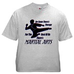Martial Arts Therapy Ash Grey T-Shirt