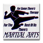 Martial Arts Therapy Tile Coaster