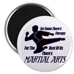 Martial Arts Therapy Round Magnet