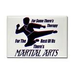 Martial Arts Therapy Rectangular Magnet