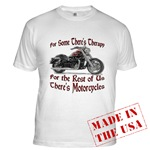 Motorcycle Therapy Fitted T-Shirt