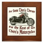 Motorcycle Therapy Framed Tile