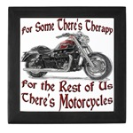 Motorcycle Therapy Keepsake Box