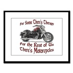 Motorcycle Therapy Large Framed Print