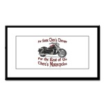 Motorcycle Therapy Small Framed Print
