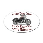Motorcycle Therapy Sticker (Oval)