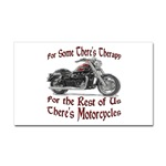 Motorcycle Therapy Sticker (Rectangular)