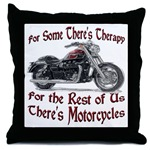 Motorcycle Therapy Throw Pillow