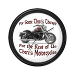 Motorcycle Therapy Wall Clock