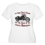 Motorcycle Therapy Women's Plus Size Scoop Neck T-