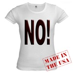 No, Nein, Non, Nyet, Nope Jr. Baby Doll T-Shirt