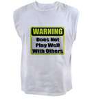 Does not play well with other Men's Sleeveless Tee