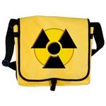3D Radioactive Symbol Messenger Bag