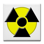 3D Radioactive Symbol Tile Coaster