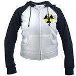 3D Radioactive Symbol Women's Raglan Hoodie