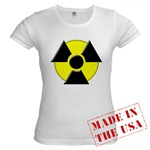 3D Radioactive Symbol Jr. Baby Doll T-Shirt
