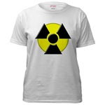 3D Radioactive Symbol Women's T-Shirt