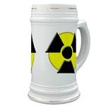 3D Radioactive Symbol Beer Stein