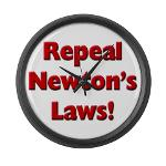 Repeal Newton's Laws Large Wall Clock