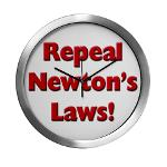 Repeal Newton's Laws Modern Wall Clock