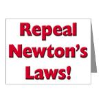 Repeal Newton's Laws Note Cards (Pk of 10)