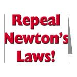 Repeal Newton's Laws Note Cards (Pk of 20)