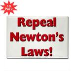 Repeal Newton's Laws Rectangle Magnet (10 pack)