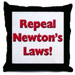 Repeal Newton's Laws Throw Pillow