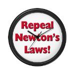 Repeal Newton's Laws Wall Clock