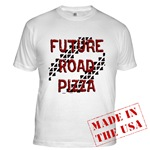 Future Road Pizza Fitted T-Shirt