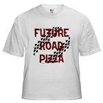 Future Road Pizza White T-Shirt